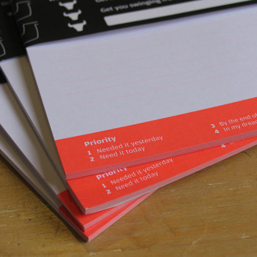 neon zoo designed to-do notepads for newcastle and hunter region based clients