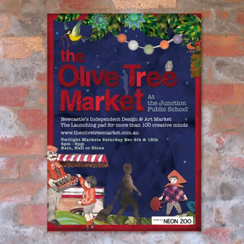 The Olive Tree Market logo and poster design