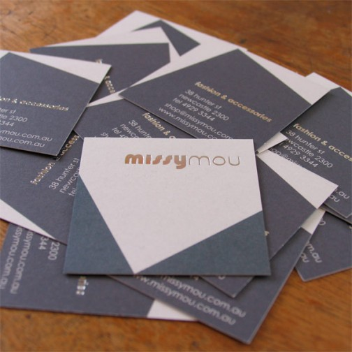 Missymou Hunter St newcastle, Business Cards