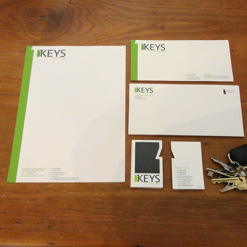 Keys Real Estate, toronto and Wangi Wangi Stationery design