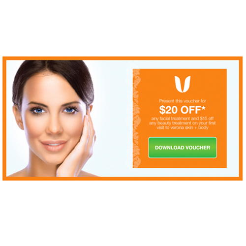 Verona Skin and Body, Newcastle and Singleton Web-voucher