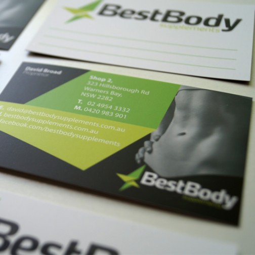 Best Body Supplements Business Card Design