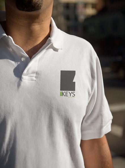 Keys Real Estate Shirt Design by Neon Zoo, graphic design studio, Newcastle NSW