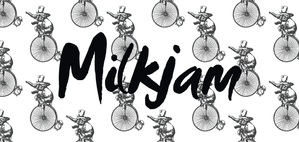 brand pattern developed for sweets company, Milkjam