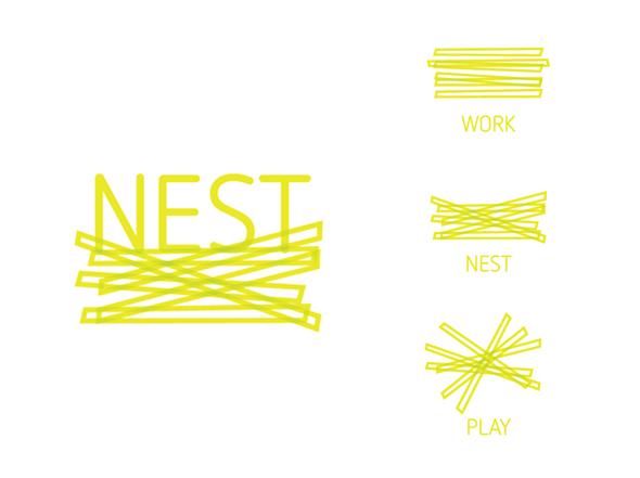 NEST Interior and Building Design Logo Design, Neon Zoo Graphic Design Studio, Newcastle