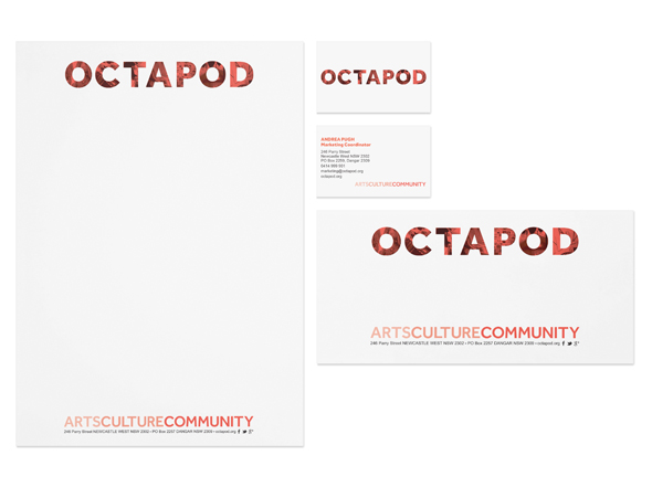 Octapod stationery design by Neon Zoo, Newcastle