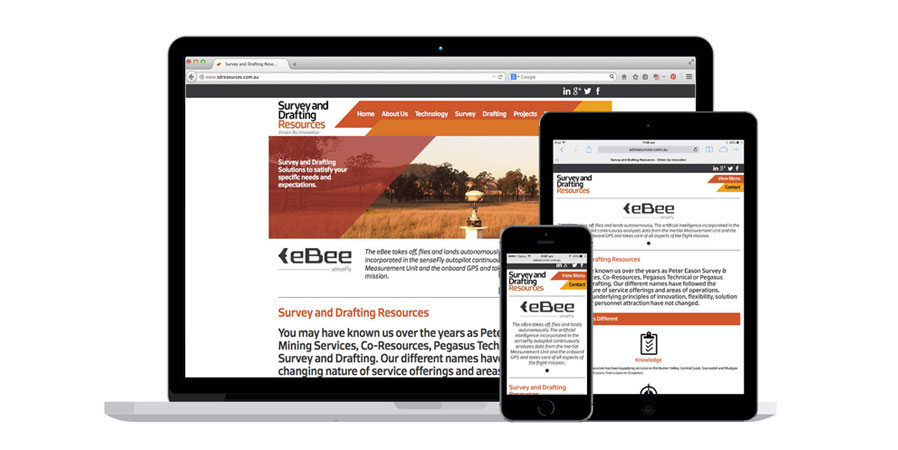 Survey and Drafting Resources Responsive Website Design by Neon Zoo Graphic Design Newcastle