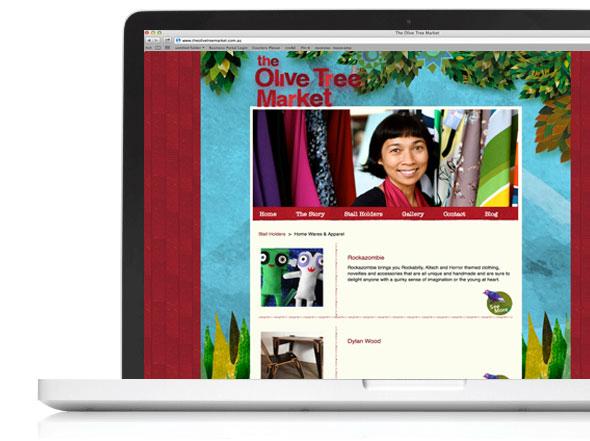 www.theolivetreemarket.com.au website design