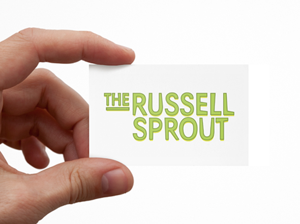 The Russell Sprout Business Card Design by Neon Zoo Newcastle