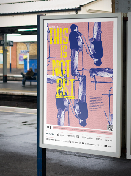 This is Not Art poster design by Neon Zoo, graphic design studio, Newcastle