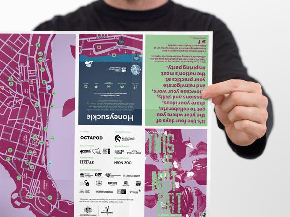 This is Not Art Program design Neon Zoo graphic design studio Newcastle