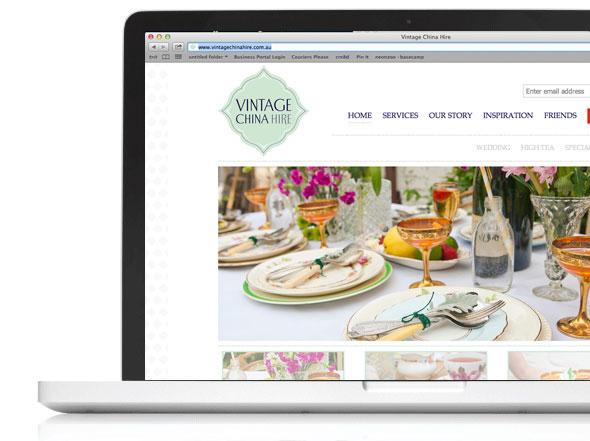 vintagechinahire.com.au web design