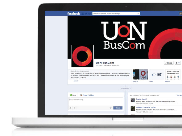UON BusComm facebook design