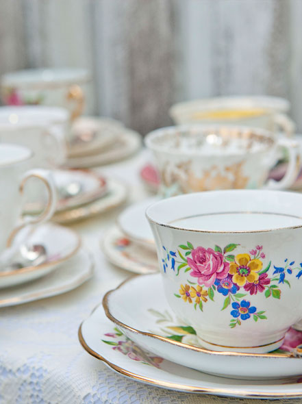 Vintage China Hire Styling and photoshoot