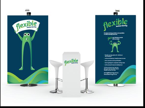 Banner design for flexible business learning