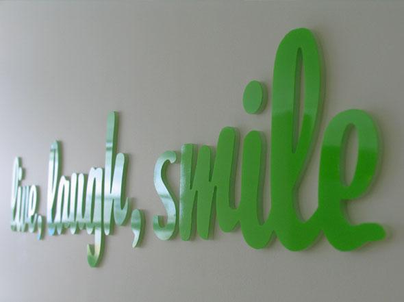 Smilehouse Orthodontics tagline signage