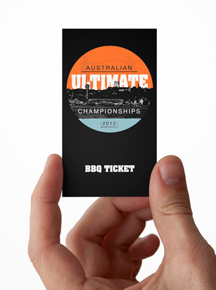 BBQ ticket design for Australian Ultimate Championships event