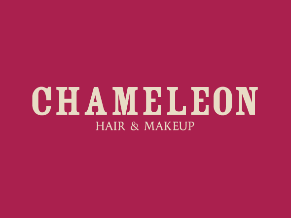 Chameleon Hair and makeup logo design