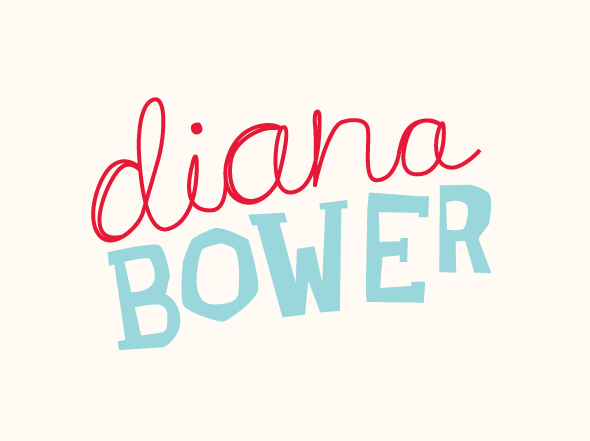 Diana Bower logo mark designed by Neon Zoo