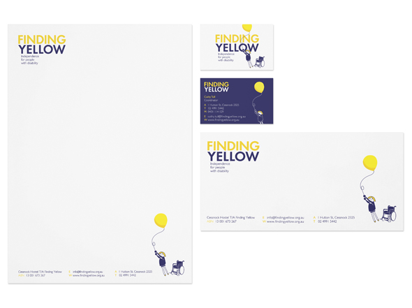 Finding yellow stationery design by neon zoo newcastle