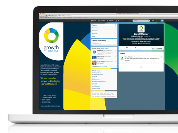 Growth Mentor Social Media Twitter Design Neon Zoo graphic design studio Newcastle