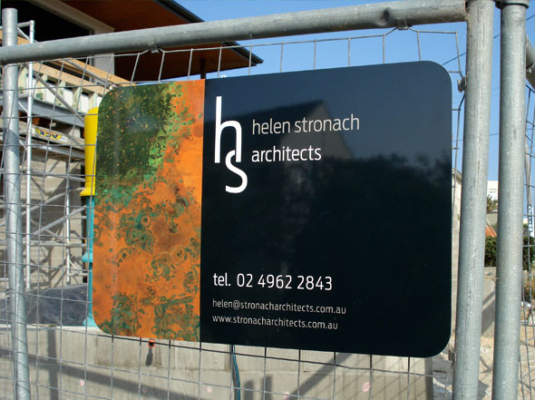 Helen Stronach architects Signage design