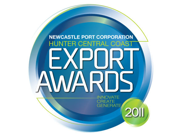 Hunter Central Coast Export Awards, rejuvenated brand mark design by Neon Zoo, graphic design studio Newcastle NSW