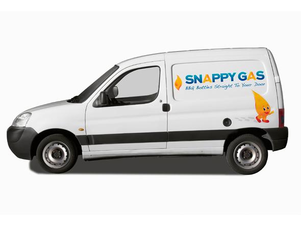 Snappy Gas car wrap design Neon Zoo graphic design studio Newcastle NSW
