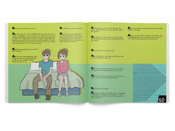 Design and Illustration for Interrelate 500+ Questions Kids have about Sexuality