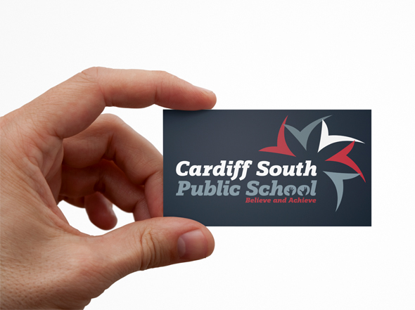 Cardiff South Public School Business Card Design Newcastle