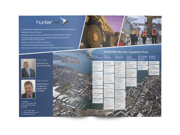 Hunternet Brochure design