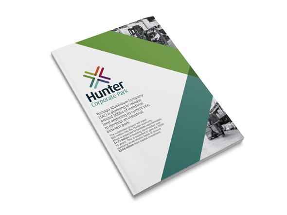 Hunter corporate park information brochure design