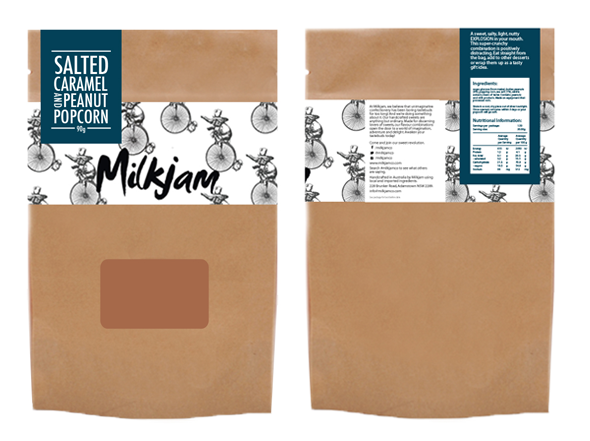 Packaging designed for Milkjam confectionary products