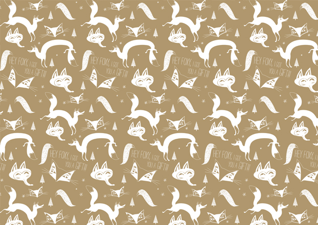 Fox Christmas Paper Design