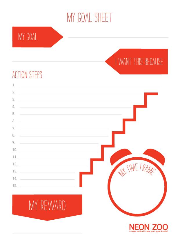 Neon Zoo goal planner