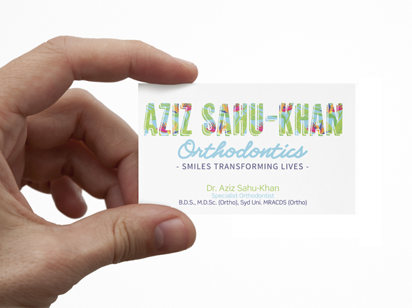 Business card design for Aziz Sahu-Khan Orthodontics
