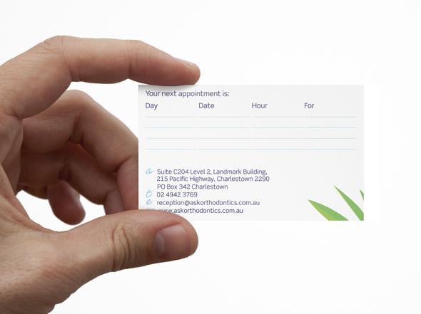 Business card design for Aziz Sahu-Khan Orthodontics