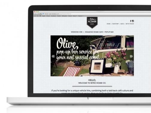 Retro Kombi Co Web design