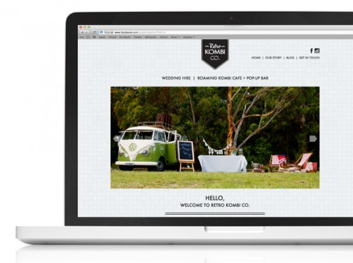 Retro Kombi Co Web design